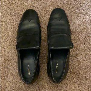 Celine Black Loafers.